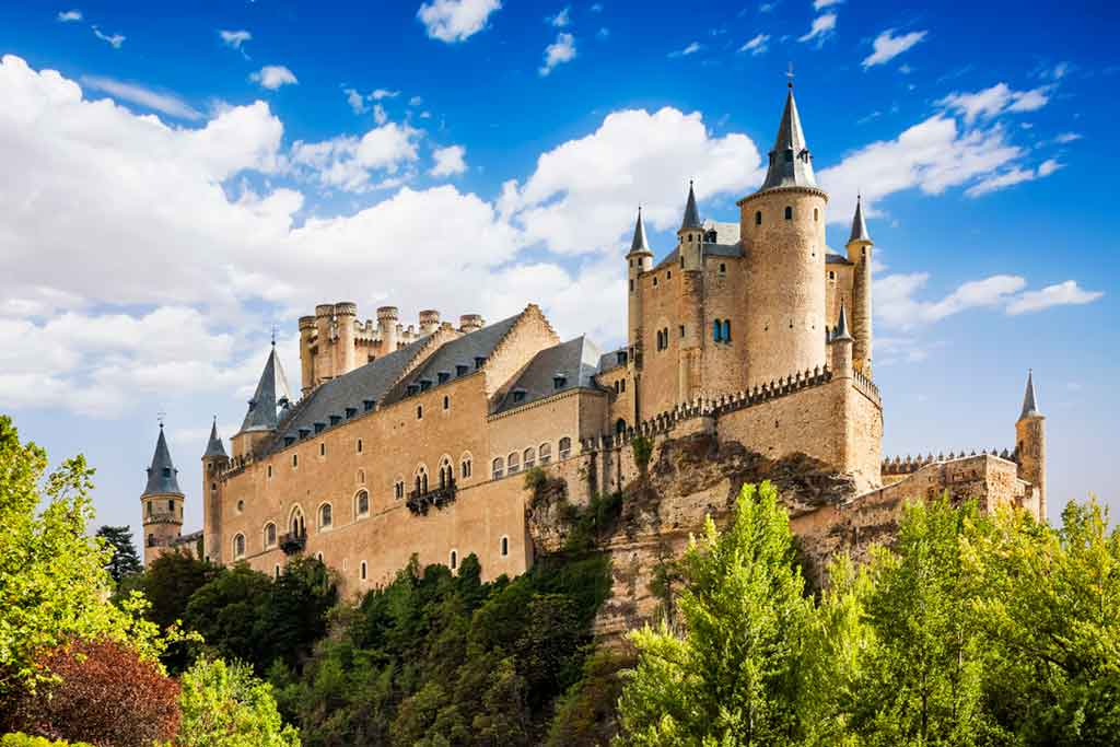 Famous Castles in Spain Alcazar-of-Segovia