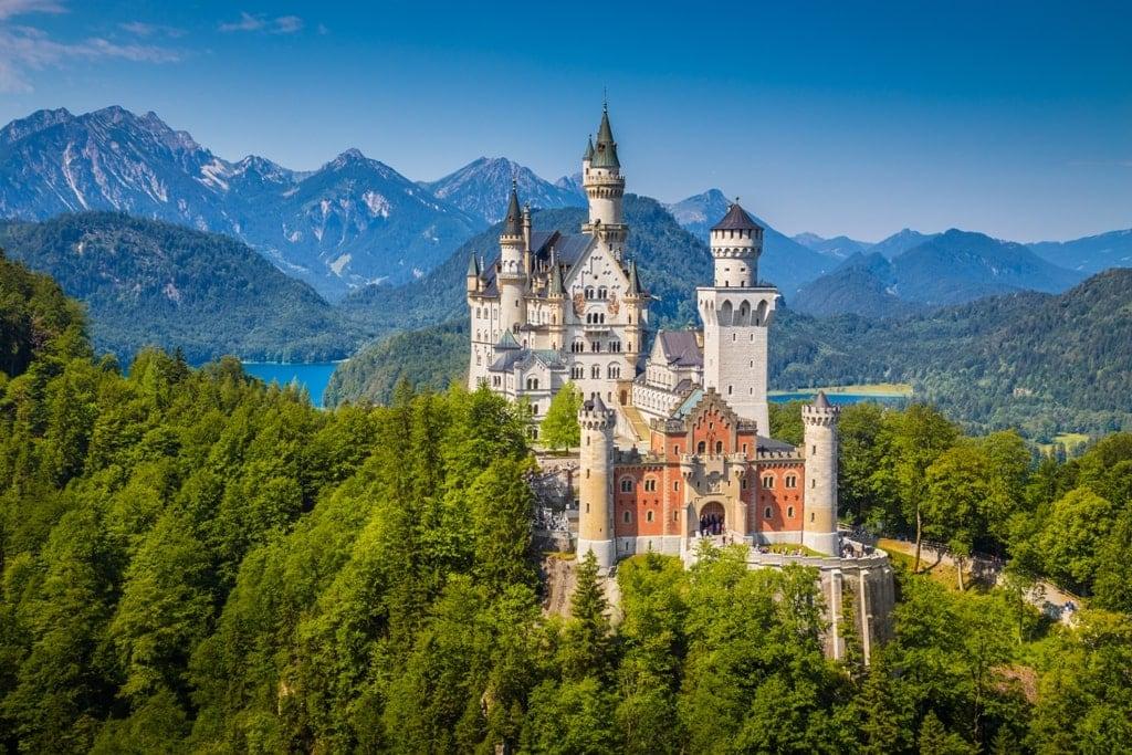 Neuschwanstein-Castle fairytale castle in Germany