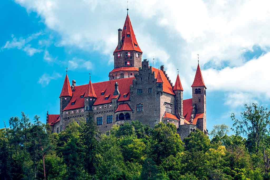 Castles in Czech Bouzov castle