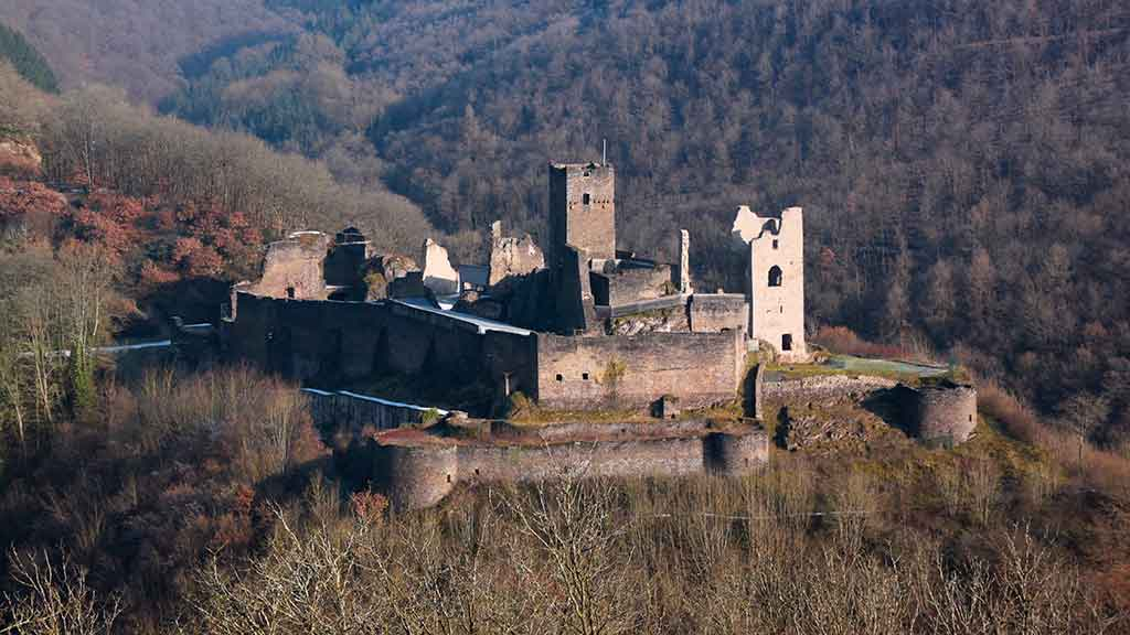 Famous Castles in Luxembourg Brandenbourg-Castle