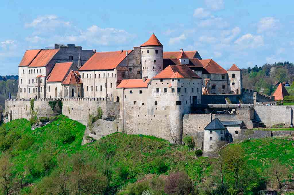 Famous Castles in Germany Burghausen-Castle