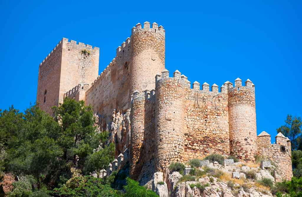 Castles in Spain Castle-of-Almansa