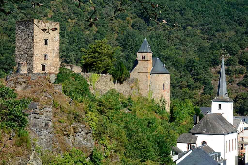 Famous Castles in Luxembourg Esch-sur-Sure-Castle