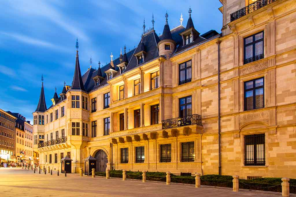 Castles in Luxembourg Grand-Ducal-Palace