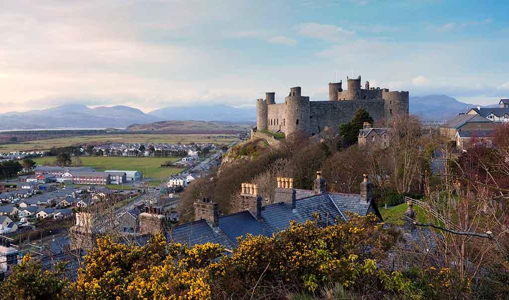 Welsh Castles Harlech-Castle
