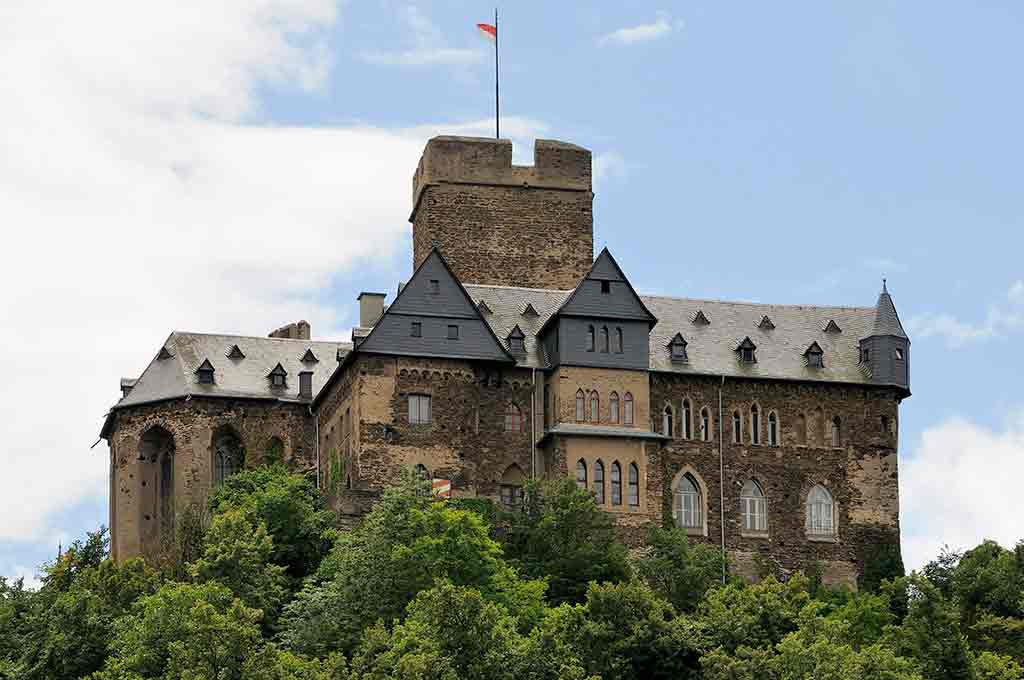 Famous Castles in Germany Lahneck-Castle