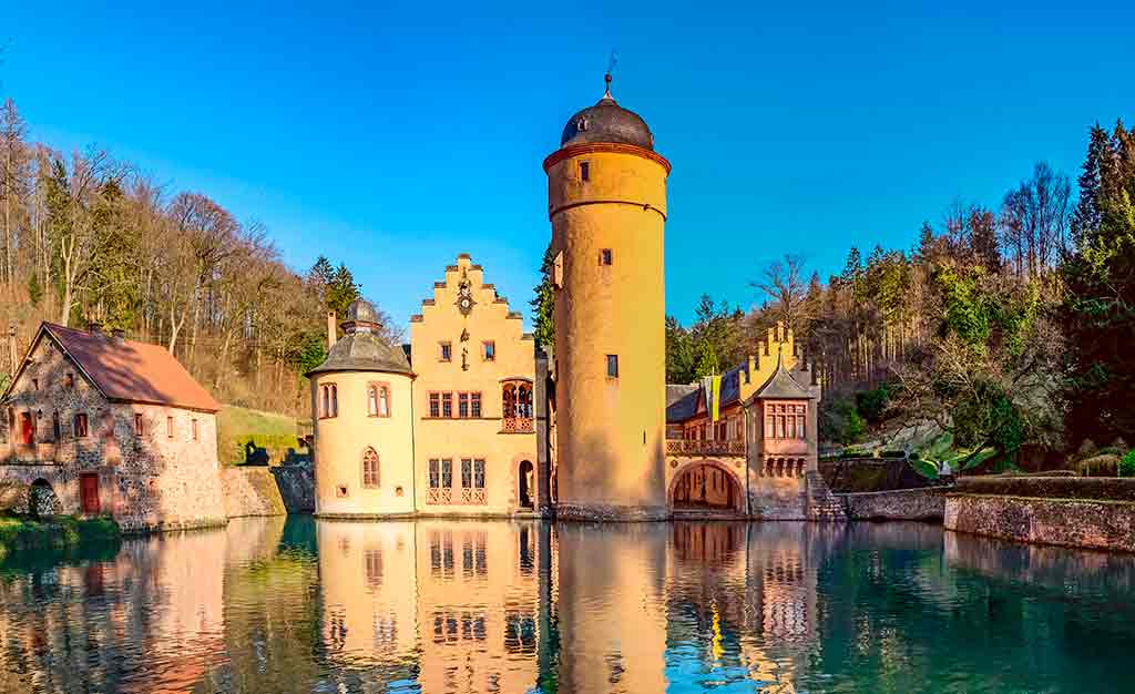 Famous Castles in Germany Mespelbrunn-Castle