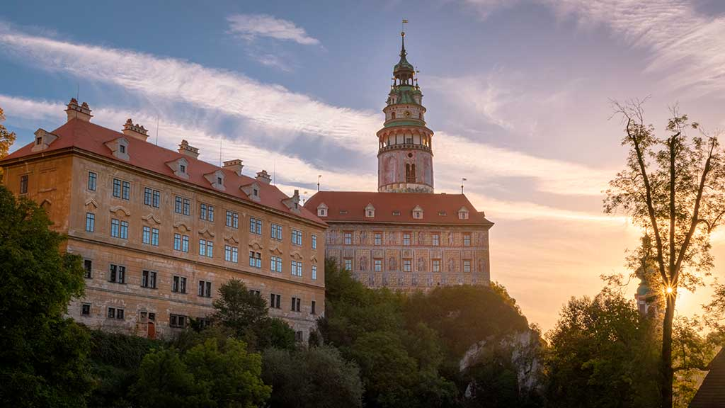 Famous Castles in Czech State and Chateau Cesky Krumlov