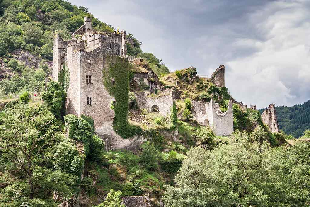 Famous Castles in France Tours de Merle