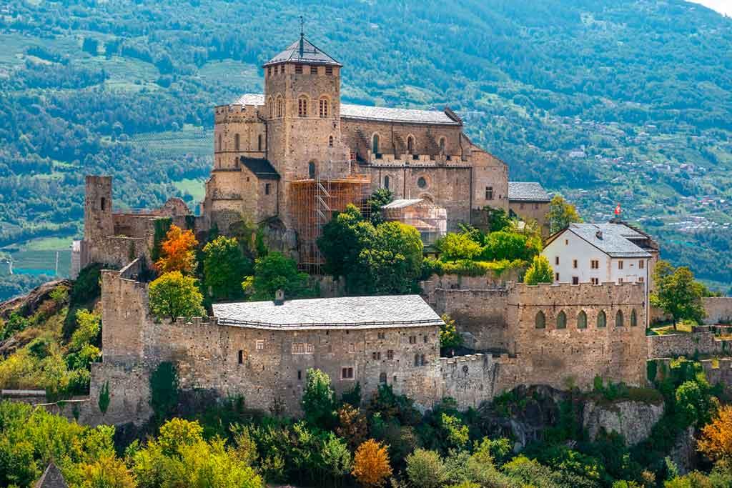 Best Swiss Castles Valere-Basilica