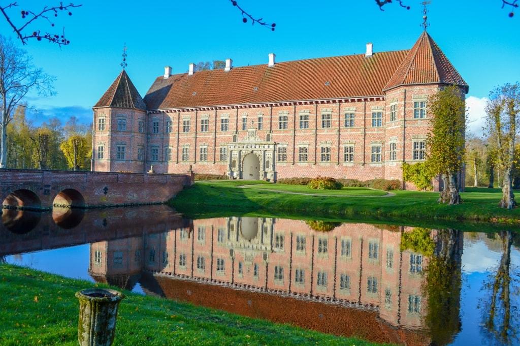 Famous Castles in Denmark Voergård Slot - Flauenskjold