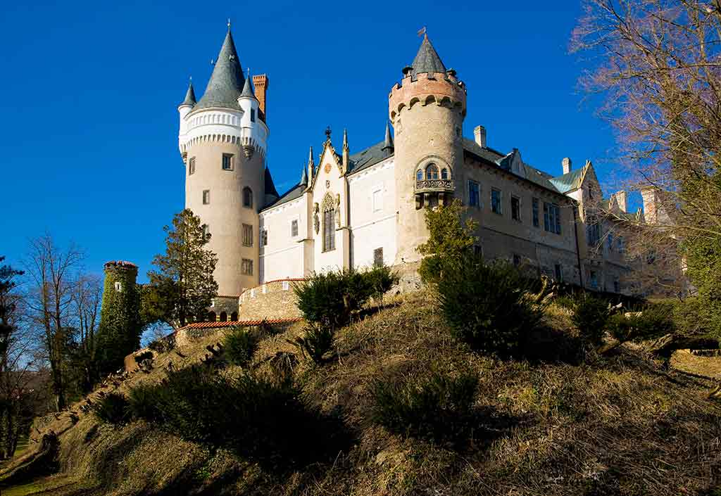Castles in Czech Zleby Chateau