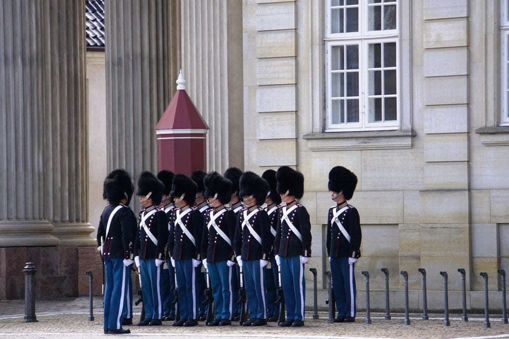 Amalienborg Palace change of the guards - Castles in Copenhagen
