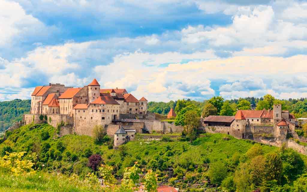 Famous Castles near Munich-Burghausen-Castle