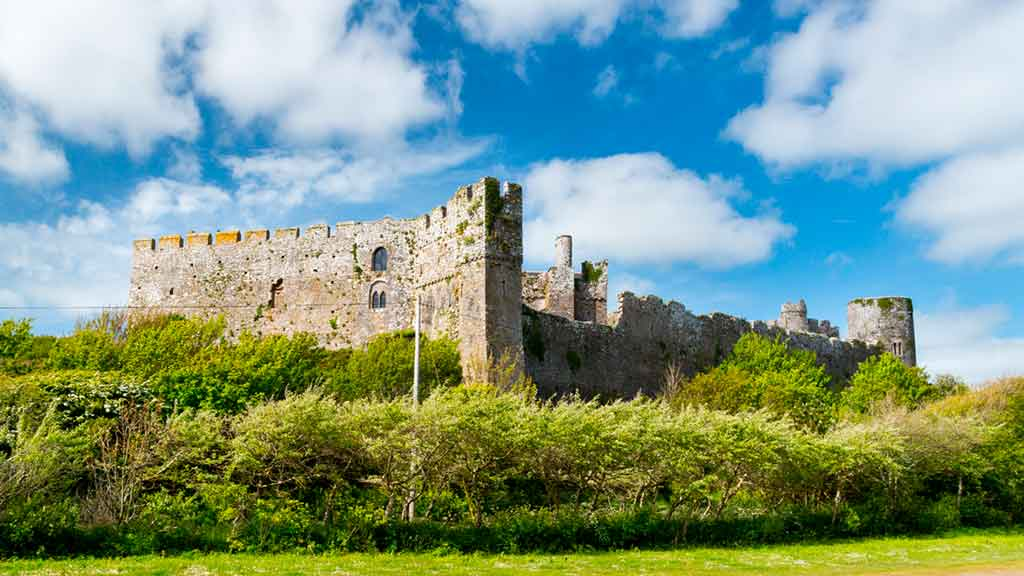 Famous castles in south Wales-Manorbier-Castle