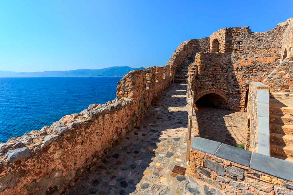 Castles in Greece-Monemvasia-Fortress