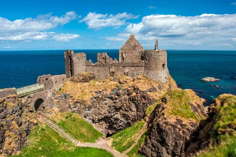 Castles in Northern Ireland-Dunluce-Castle