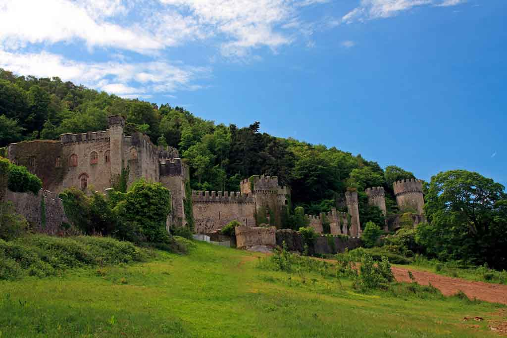 Famous Castles in Northern Wales-Gwrych-Castle-and-Gardens