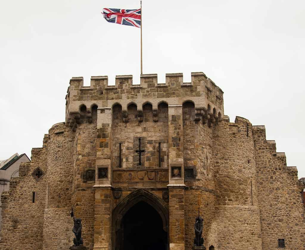 Southampton Castle in Hampshire