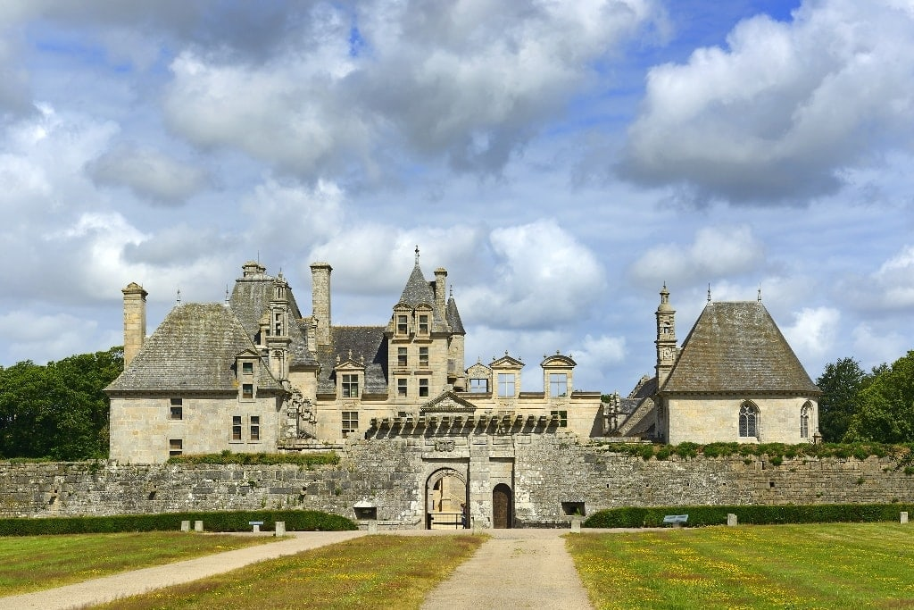 Chateau de Kerjean - medieval manor house in France