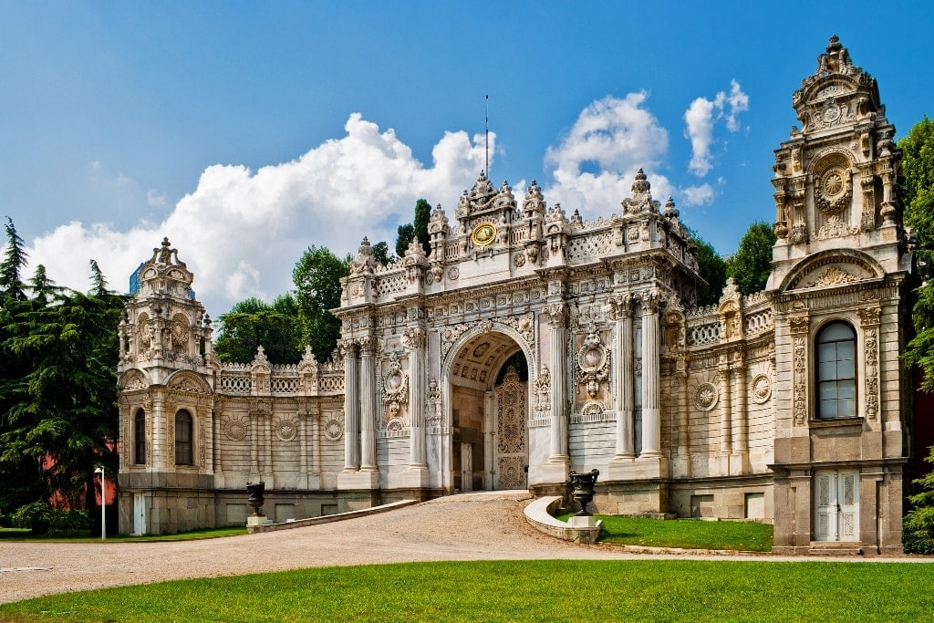Dolmabahce Palace in Istanbul. Turkey - Palaces in Istanbul