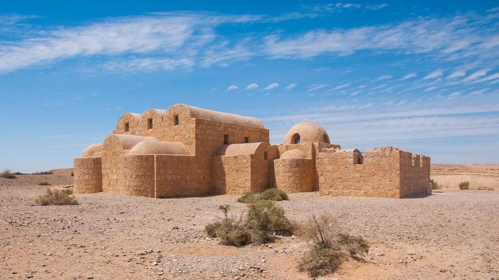Qasr Amra desert castle in Jordan