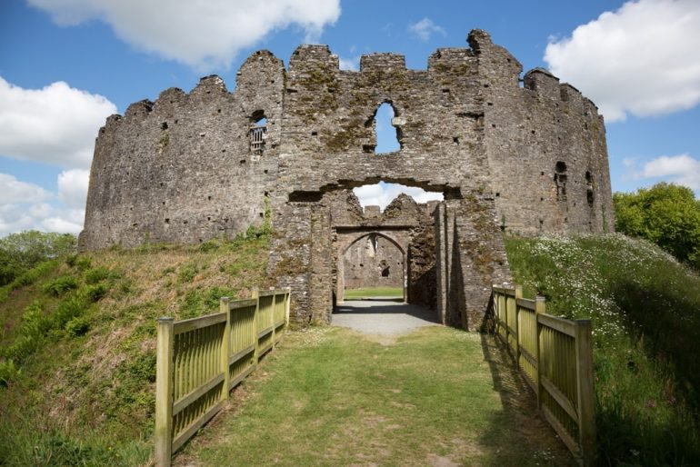 Restormel Castle is a great example of Shell Keep Castles