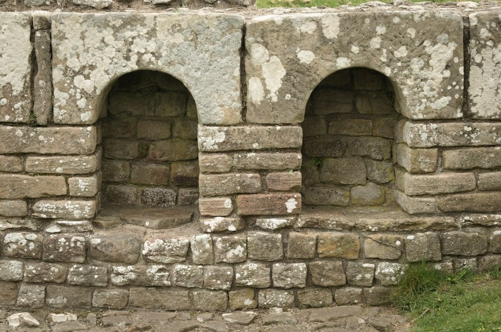 Bath house alcoves at Chesters Roman fort