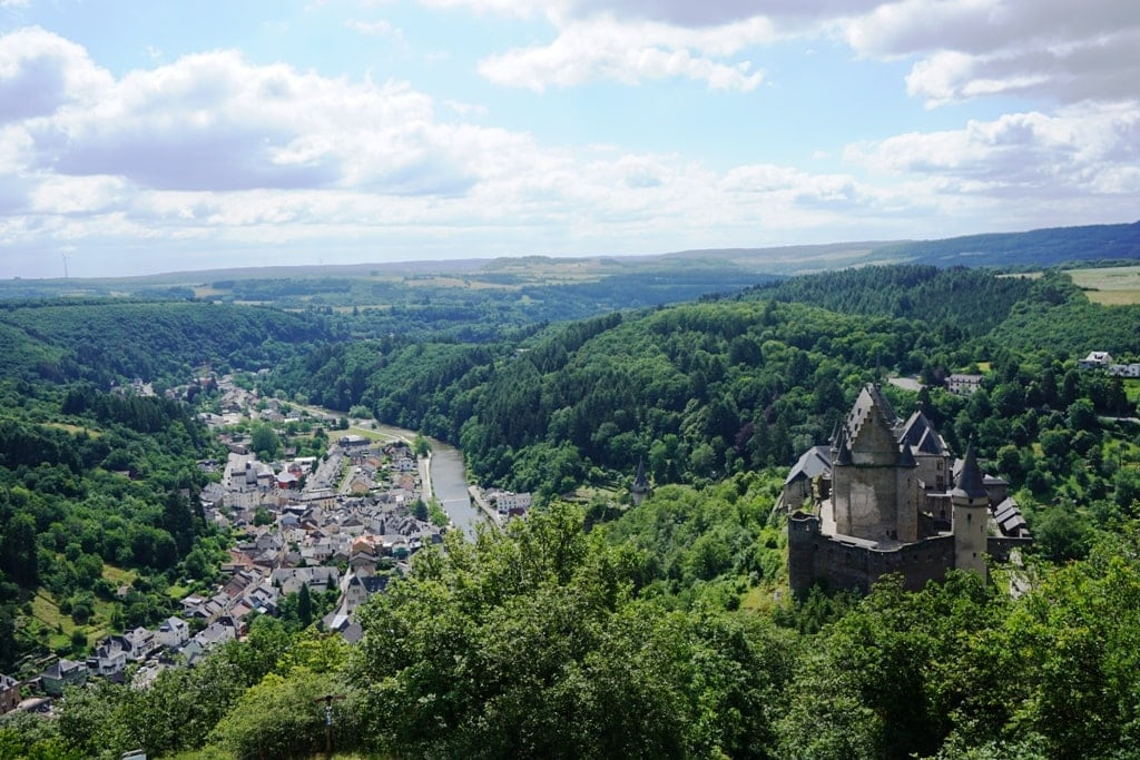 Vianden Castle from above
