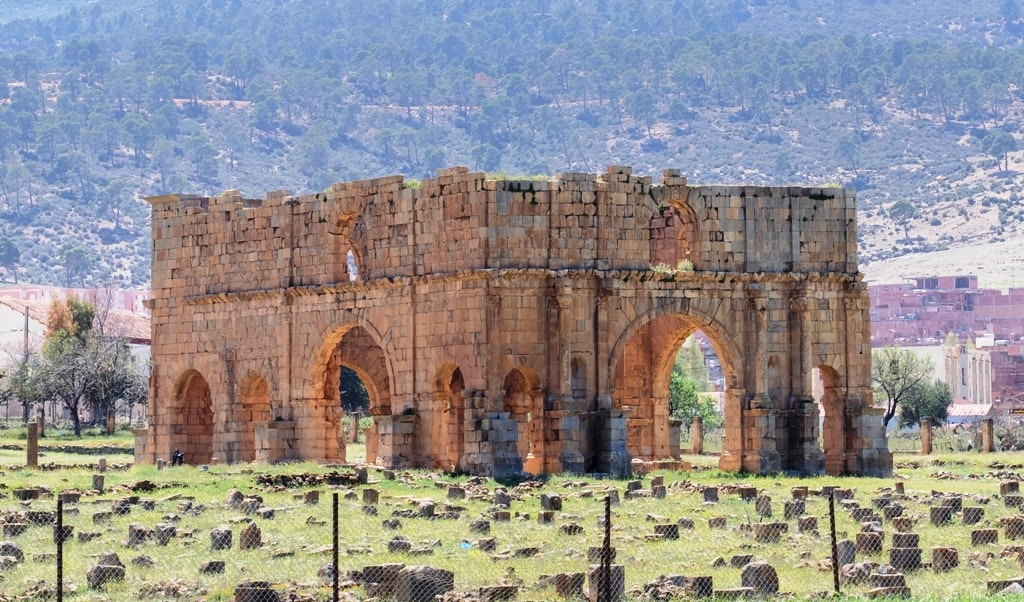 So called Praetorium in Roman military legion camp Lambaesis (Lambese) in Algeria