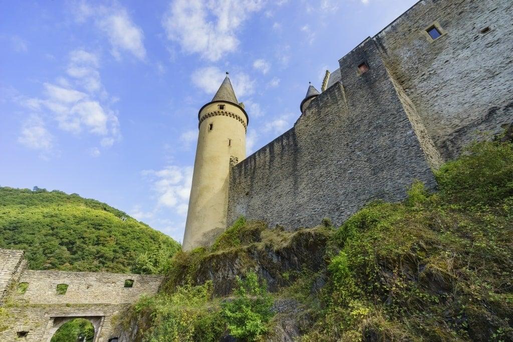 Vianden Castle in Vianden Town