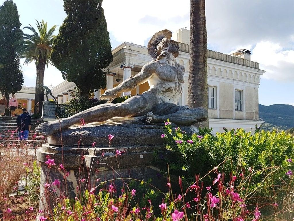Dying Achilles - Achillion Palace in Corfu