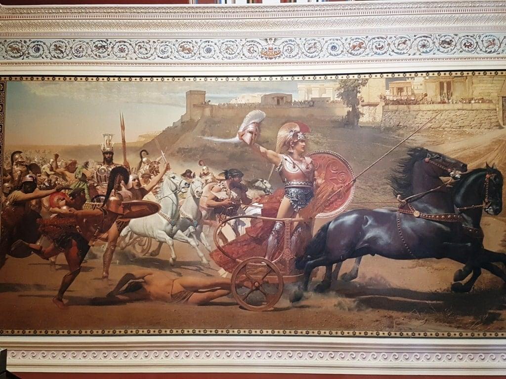 Franz Matt's depiction of the triumph of Achilles - Achillion Corfu