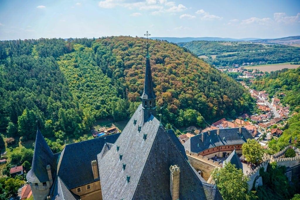 view from Karlštejn Castle